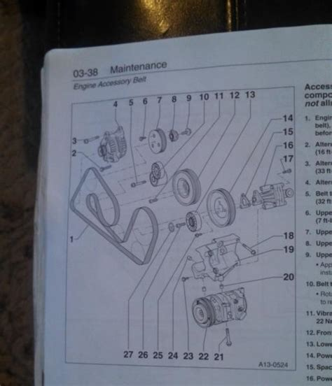serpentine belt routing for 00 a6 4