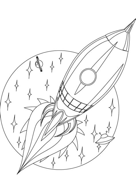 Rocket coloring pages to download and print for free