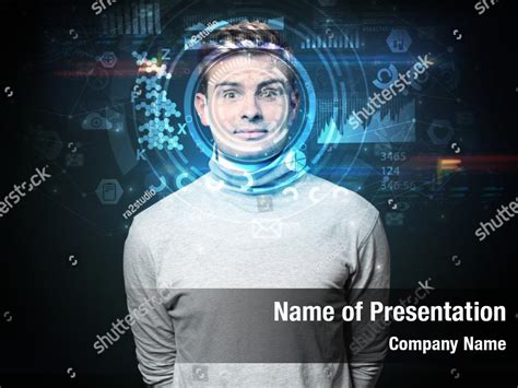 System face recognition scanning PowerPoint Template