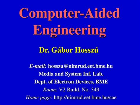 PPT - Computer-Aided Engineering PowerPoint Presentation