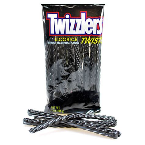 Twizzlers Black Licorice Twists: 5LB Case | Candy Warehouse