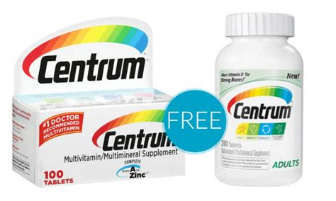 Centrum Coupons for Multivitamins | FREE at Walgreens!