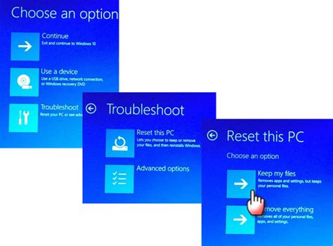 Reset your Windows 10 system with the Keep My Files option