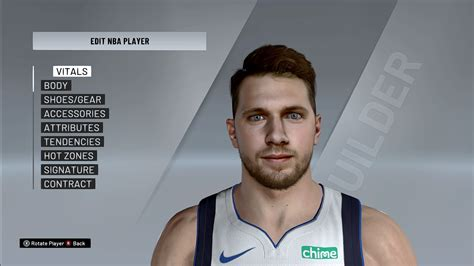 Luka Doncic Cyberface, Hair and Body Model V3