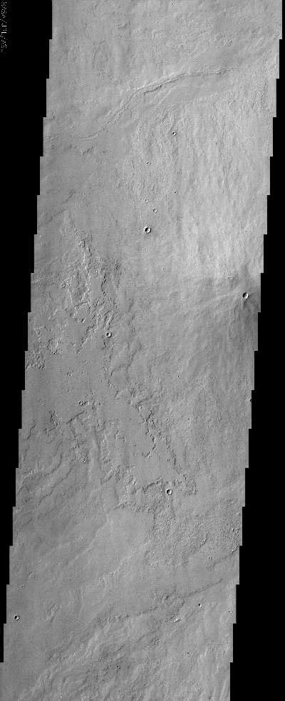 Small volcanic crater near Pavonis Mons   Mars Odyssey