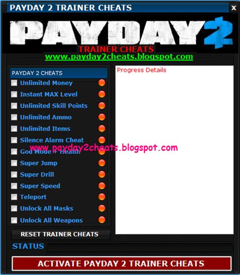 PayDay 2: Payday 2 Trainer Cheats