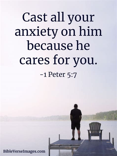Bible Quote - 1 Peter 5:7 - Bible Verse Images