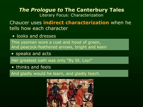 PPT - The Prologue to The Canterbury Tales by Geoffrey